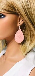 Criss Cross Leather Earrings - E19-003
