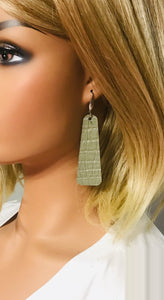 Leather Bar Earrings - E19-025