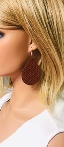 Cinnamon Spice Italian Leather Earrings - E19-032