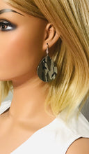 Load image into Gallery viewer, Jungle Gray Mini Camo Pattern Leather Earrings - E19-047
