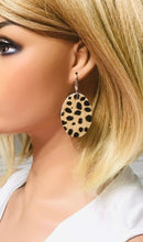 Load image into Gallery viewer, Hair On Beige Cheetah Leather Earrings - E19-092
