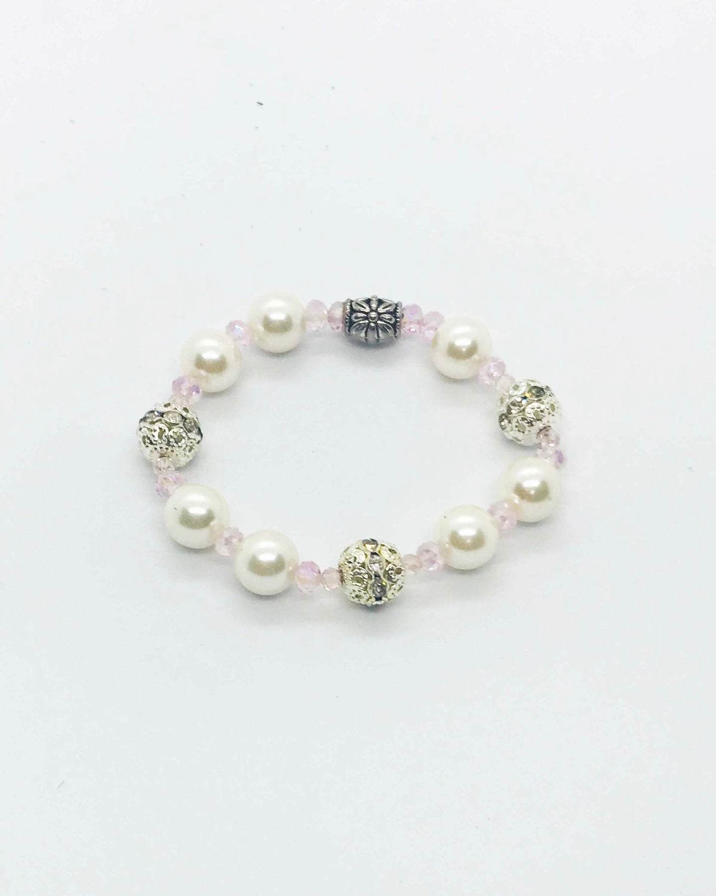 Glass Bead Stretchy Bracelet - B1006