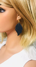 Load image into Gallery viewer, Navy Cork Leather Earrings - E19-1007
