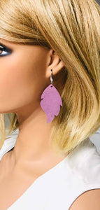 Lilac Blooms Dazzle Leather Earrings - E19-1011