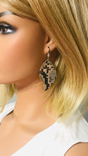 Load image into Gallery viewer, Genuine Python Snake Leather Earrings - E19-1016
