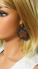 Load image into Gallery viewer, LSU Themed Leather Earrings - E19-1022