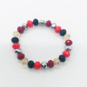 Glass Bead Stretchy Bracelet - B1022