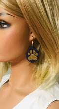 Load image into Gallery viewer, LSU Themed Leather Earrings - E19-1031