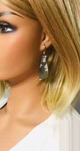 Jungle Gray Camo Leather Earrings - E19-1036