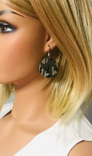 Load image into Gallery viewer, Jungle Gray Camo Leather Earrings - E19-1049