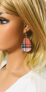 Plaid Leather Earrings - E19-1057