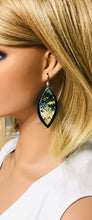 Load image into Gallery viewer, Genuine Black Leather and Cobra Leather Earrings - E19-1062