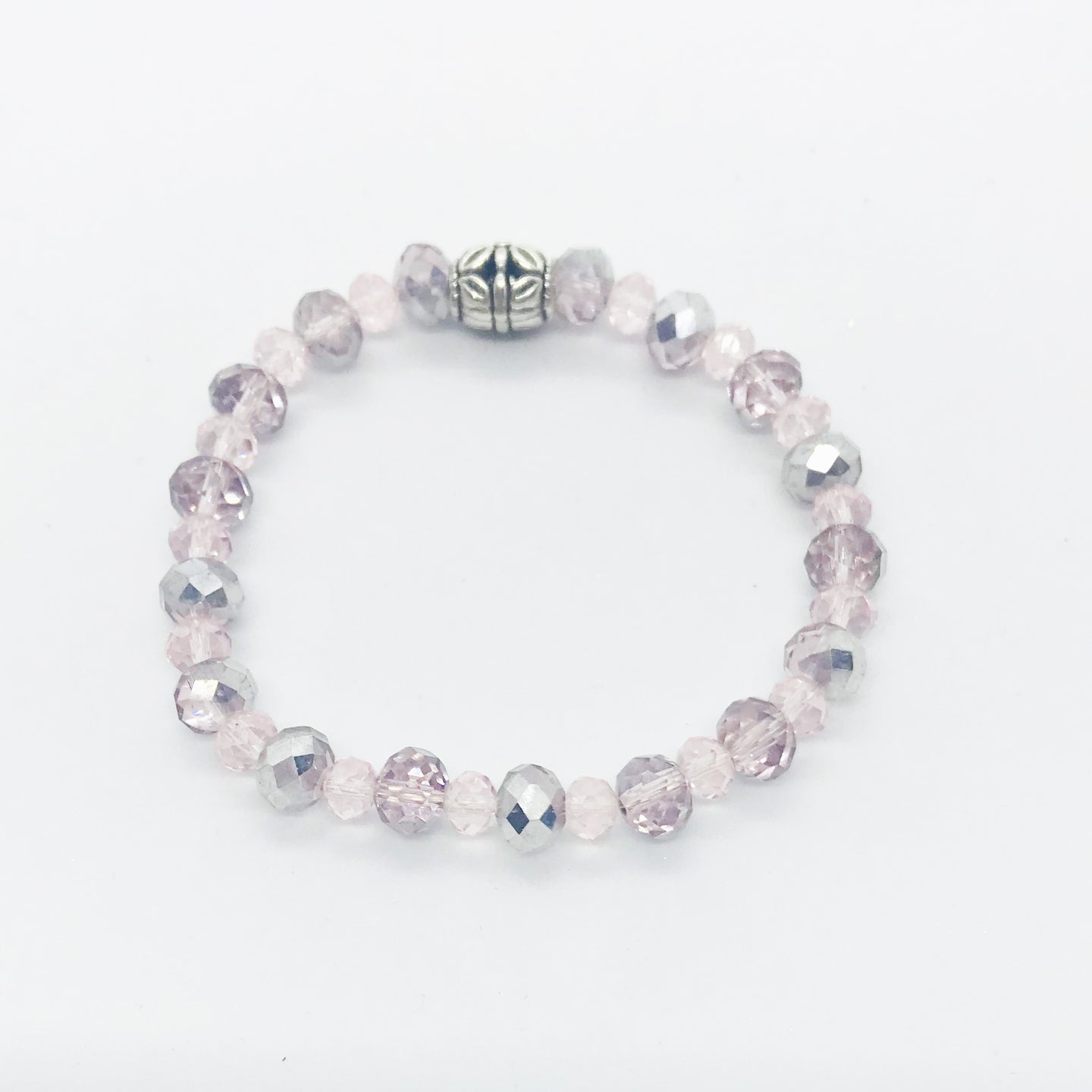 Glass Bead Stretchy Bracelet - B1070
