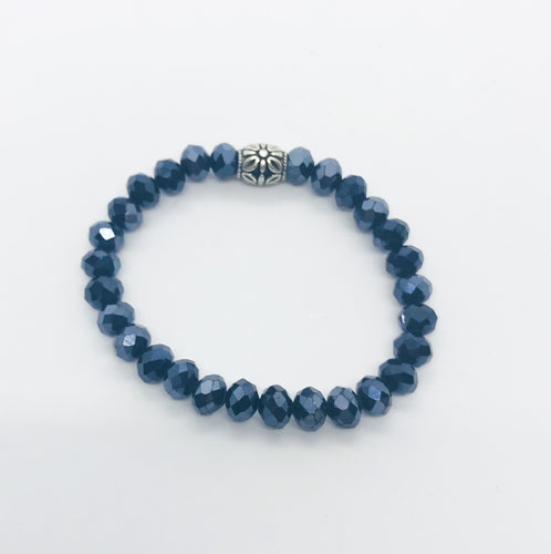 Glass Bead Stretchy Bracelet - B1071