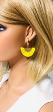 Load image into Gallery viewer, Yellow and Gold Fan Shaped Tassel Earrings - E19-1082
