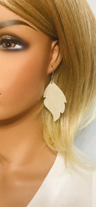 Champagne Dazzle Leather Earrings - E19-1091
