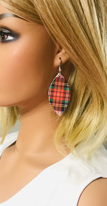 Plaid Leather Earrings - E19-1108
