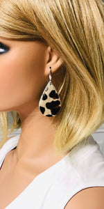 Hair On Leopard Leather Earrings - E19-1117