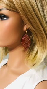 Mystic Python Leather Earrings - E19-1136