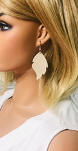 Load image into Gallery viewer, Champagne Leather Earrings - E19-1142