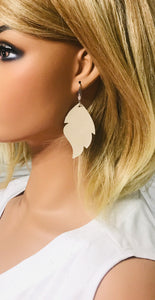 Champagne Leather Earrings - E19-1142