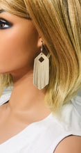 Load image into Gallery viewer, Champagne Leather Earrings - E19-1152