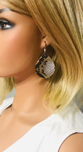 Load image into Gallery viewer, Python Snake Leather Earrings - E19-1159