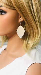 Champagne Leather Earrings - E19-1162