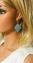 Load image into Gallery viewer, Gold Tipped Mint Leather Earrings - E19-1172