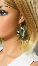 Load image into Gallery viewer, Green Camo Leather Earrings - E19-1189