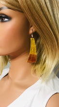 Load image into Gallery viewer, Croco Embossed Leather Earrings - E19-1191