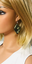 Load image into Gallery viewer, Green Camo Leather Earrings - E19-1199