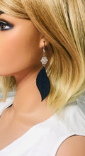 Load image into Gallery viewer, Blue Italian Fishtail Leather Earrings - E19-1211