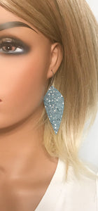 Exotic Teal Stingray Leather Earrings - E19-1224