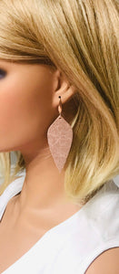 Rose Gold Leather Earrings - E19-1231