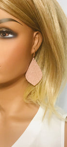 Rose Gold Leather Earrings - E19-1234
