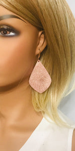 Rose Gold Leather Earrings - E19-1235