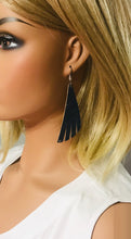 Load image into Gallery viewer, Navy Cork Leather Earrings - E19-1244