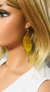 Croco Embossed Leather Earrings - E19-1256