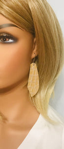 Moc Crock Embossed Leather Earrings - E19-1264