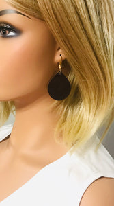 Brown Genuine Leather Earrings - E19-1325