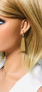 Brown Genuine Leather Earrings - E19-138