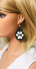 Load image into Gallery viewer, Dalmatian Themed Leather Earrings - E19-1407