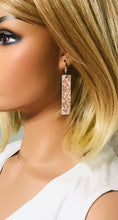 Load image into Gallery viewer, Rose Gold Metallic Snake Leather Earrings - E19-1411