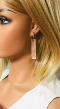 Load image into Gallery viewer, Metallic Rose Gold Genuine Leather Earrings - E19-1430