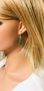 Dyed Aventurine Dagger Pendan Earrings - E19-144