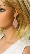 Load image into Gallery viewer, Metalic Gold and Rose Gold Leather Earrings - E19-1451