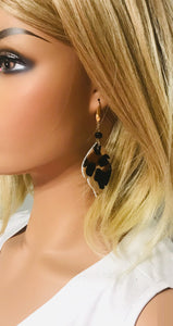 Hair On Leopard Leather Earrings - E19-1456