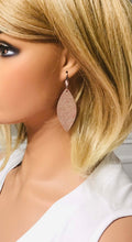 Load image into Gallery viewer, Rose Gold Weave Pattern Leather Earrings - E19-1469