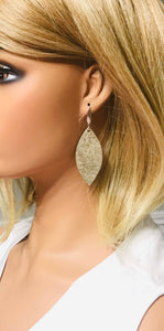 Platinum Leather Earrings - E19-1488